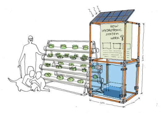 hydroponics growing system diagram built for the allotment of the future installation manchester